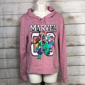 MARVEL long sleeve hooded sweatshirt
